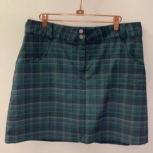 Nike Golf Sport Skirt skirt plaid teal